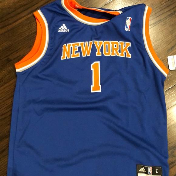 best website a7dba be9a6 New York Knicks jersey number 1 NWT